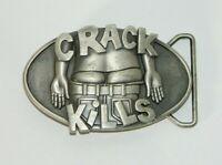 Crack Kills Belt Buckle 2005 by SMC Dark Grey Butt Plumber