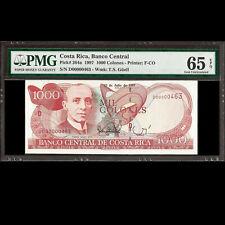 Costa Rica 1000 Colones 1997 Serial Number 0000463 PMG 65 EPQ GEM UNC P-264a