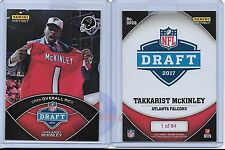 2017 Panini Instant 26th Overall Pick DP26 Takkarist McKinley RC Draft Day /64