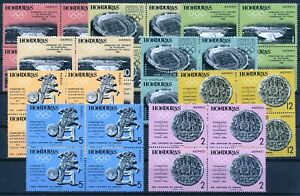 [P15227] Honduras 1964 : 4x Good Set Very Fine MNH Airmail Stamps in Blocks