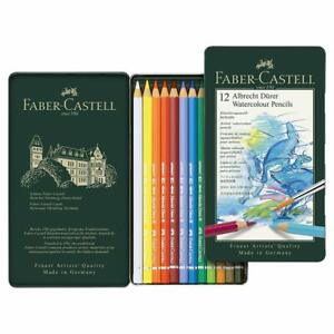 Faber-Castell Albrecht Durer Artista Qualità Acquerello Matite 12 Teglia