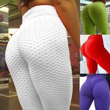 Womens Lift Yoga Pant Fitness Anti Cellulite Scrunch Leggings Gym Activewear I1