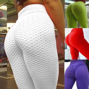 Womens Lift Yoga Pant Fitness Anti Cellulite Scrunch Leggings Gym Activewear I1