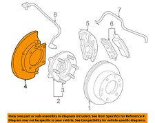 GM OEM Disc Brake-Front-Backing Plate Dust Splash Shield 25846355