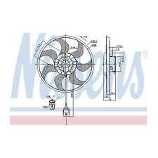 Genuine Nissens Engine Cooling Radiator Fan - 85777