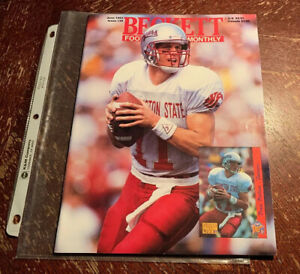 June 1993 issue #39 of Beckett Football Monthly featuring Drew Bledsoe