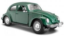 VW BEETLE 1:24 Scale Model Miniature Volkswager Die Cast Cars Green