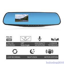 "3"" 1080P Full HD In-Car Rear View Car Mirror Camera Dash Cam Video Recorder"