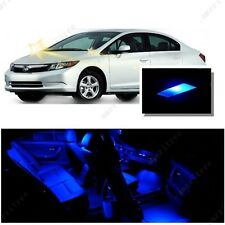 For Honda Civic 2006-2012 Blue LED Interior Kit + Blue License Light LED