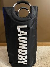 New Laundry Hamper 15x15x25 Waterproof Padded Handles Collapsible Durable