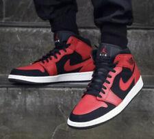 Nike Air Jordan 1 Mid Reverse Bred GS Youth 554725-054 UK 3.5 EU 36 US 4Y New
