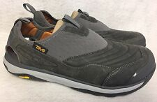 Teva Terra Float Active Slip On Charcoal Grey Leather Shoes Sandals 1018738 New