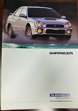 2003 Subaru Impreza WRX sedan / wagon sales brochure