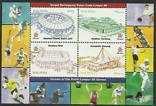MALAYSIA 1998 COMMONWEALTH GAMES STADIUM S/Sh RUGBY MNH