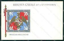 Militari 11º 12º Reggimento Fanteria Brigata Casale cartolina XF0036