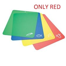 """CHOPPING MATS COLOUR-CODED SET OF 4 RED/BLUE FLEXIBLE CUTTING KITCHEN 12"""" X 15"""""""