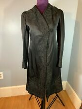 Antique Victorian Black Jacket walking Coat Embroidery detail button close
