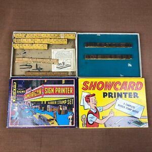 Lot of 2 Vintage Smeco Superior Stamp Sets Original Box #4610 #4110