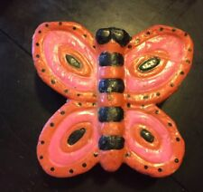 Butterfly Candle Gift Vtg Pink Wax Retro Spring Home Decor 70s Boho