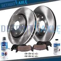 Front Brake Rotors & Ceramic Pads + Fluid for 07-2013 BMW 335i xDrive 335is 3.0L