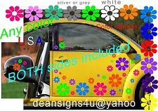 70 FLOWER set BRIGHT Tropical BOTH SIDES DAISY Sticker Tuck Car Vehicle