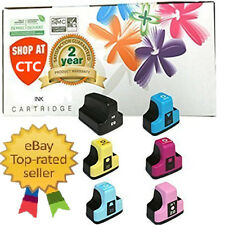 6 Pack 02 Ink Cartridge For HP Photosmart C7280 3310 D7360 D7160 C5180 8250 ...