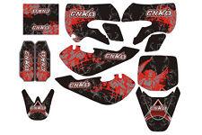 Aufkleber, Dekor Schwarz Rot für Pit Bike,Dirt Bike CNKO-125,XB-80