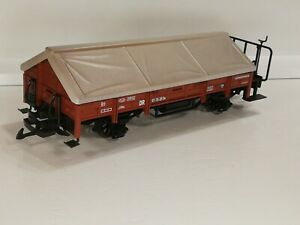 LGB 41235 DR BROWN  COVERED GOODS LIME WAGON  BOXED G Scale Garden Railway
