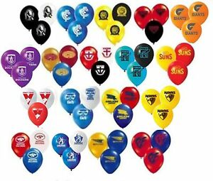 AFL Approved Party Team Latex Balloons 3 for $2 - See item description for avail