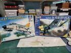 italeri 1/48th Phantom II e/f version plus Revell 1//32 Stuka