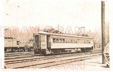 8G729 RP 1940s CSS&SB SOUTH SHORE RAILROAD SHORT CAR #4 MICHIGAN CITY IN
