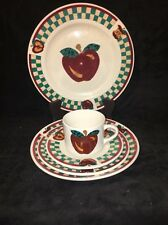 """TABLETOPS UNLIMITED """"A"""" Is For Apple 5 Piece Dinnerware Place Service Setting"""