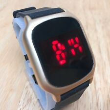 Charming Charlie Touch Screen Modern Red LED Digital Quartz Watch Hour~New Batte