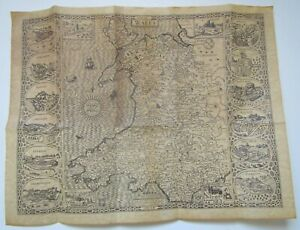 Vintage John Speed Map of Wales 1610
