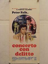 CONCERTO CON DELITTO ten. Colombo regia Nicholas Colasanto locandina orig. 1978