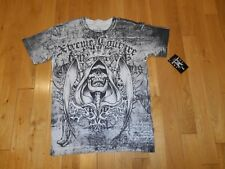 New XTREME COUTURE Thin Skull Grim Reaper Image T-Shirt Mens Lrg MMA Affliction