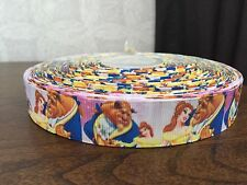 """1m Beauty And The Beast 38mm 1.5"""" Princess Belle Printed Grosgrain Ribbon"""