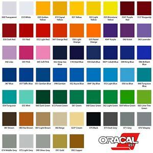 A4 Vinyl Sheets - Oracal 651 - Self Adhesive - Gloss Polymeric - Cameo Cricut