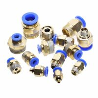 5Pcs Pneumatic Fitting Connector Male Straight Push in Fitting for Hoses