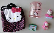Hello Kitty Mini Backpack Misc Toys Organizer Jewelry Box Lot Christmas Gift