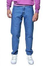 Lange stonewashed Herren-Jeans im Relaxed-Stil