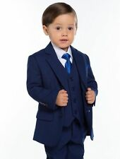 Hot Navy Page Boys Kids Wedding Tuxedos Custom Made Babys Toddlers Party Suits