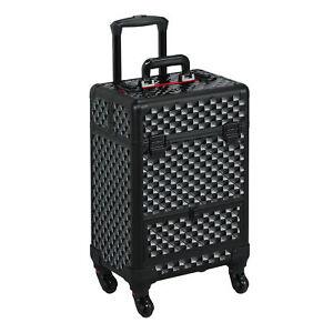 Valise à Maquillage Trolley à Cosmétiques Vanity-case avec Roulettes Beauty Case