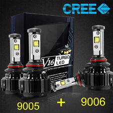 CREE 9006 9005 LED Headlight Kit Bulbs Hi/Low Beam 120W 14400LM 6000K White Car