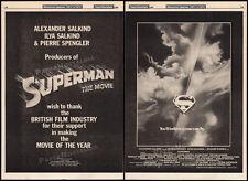 SUPERMAN: The Movie__Original 1979 Trade Print AD promo / poster__RICHARD DONNER