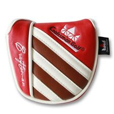 Craftsman Golf Center Shaft Red White Brown Stripe Mallet Putter Cover Headcover