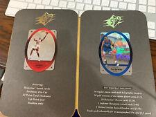 1996 Michael Jordan UPPER DECK SPX DIE-CUT HOLOGRAM PROMO Rare with Promo Folder