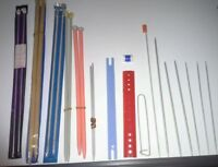 Various knitting needles etc.