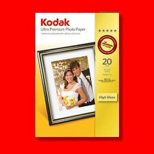 KODAK ULTRA PREMIUM 6X4 280GSM PHOTO GLOSS PAPER 20 SHEETS GLOSSY INKJET PRINTER