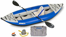 SEA EAGLE 300X EXPLORER KAYAK DELUXE PACKAGE CLASS 4 WHITEWATER SELF BAILING!